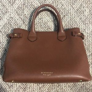 Medium Banner House Check Leather Tote